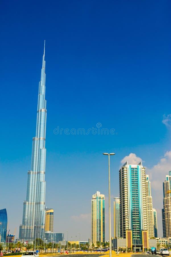 Burj哈利法门面,迪拜,阿拉伯联合酋长国 图库摄影