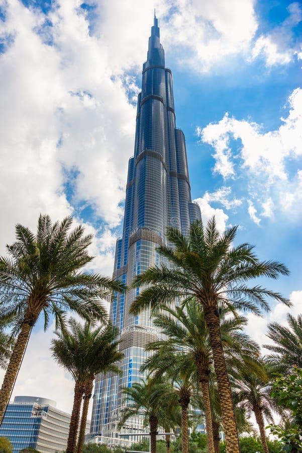 Burj哈利法门面,阿拉伯联合酋长国 库存照片