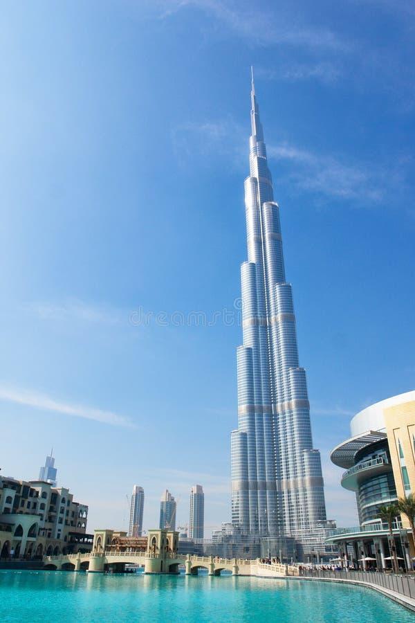 burj迪拜khalifa塔阿拉伯联合酋长国 库存图片