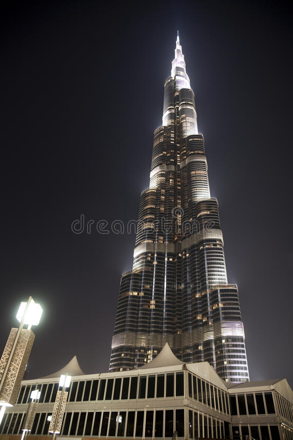 burj迪拜khalifa阿拉伯联合酋长国 免版税库存图片