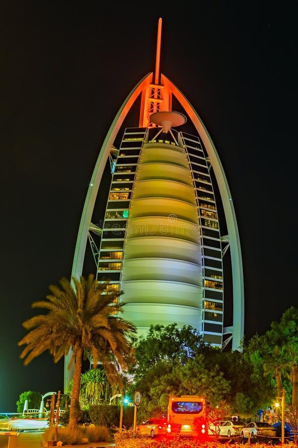 Burj αραβικός πύργος ξενοδοχείων Al αραβικός, Ηνωμένα Αραβικά Εμιράτα στοκ εικόνες με δικαίωμα ελεύθερης χρήσης