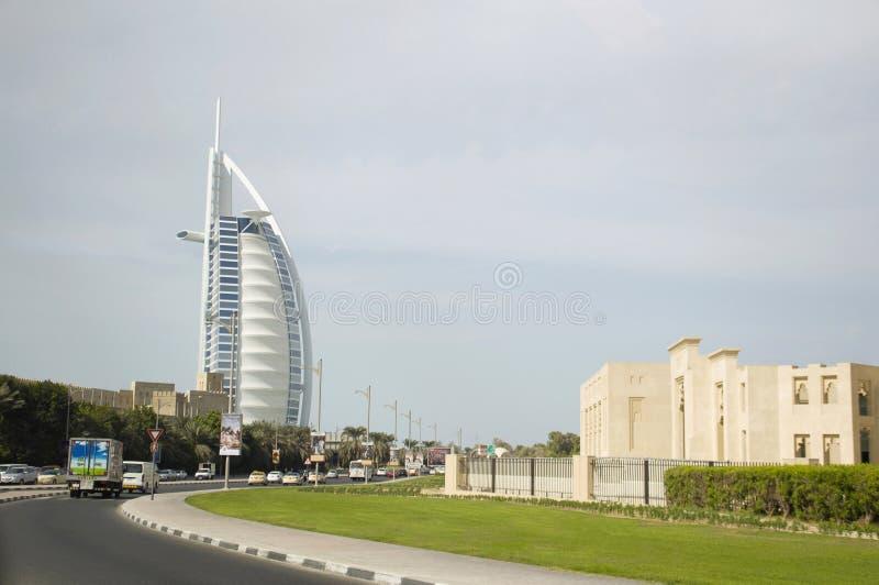 Burj Al阿拉伯人,阿拉伯人的塔,是位于迪拜的一家豪华旅馆,阿联酋 免版税库存照片