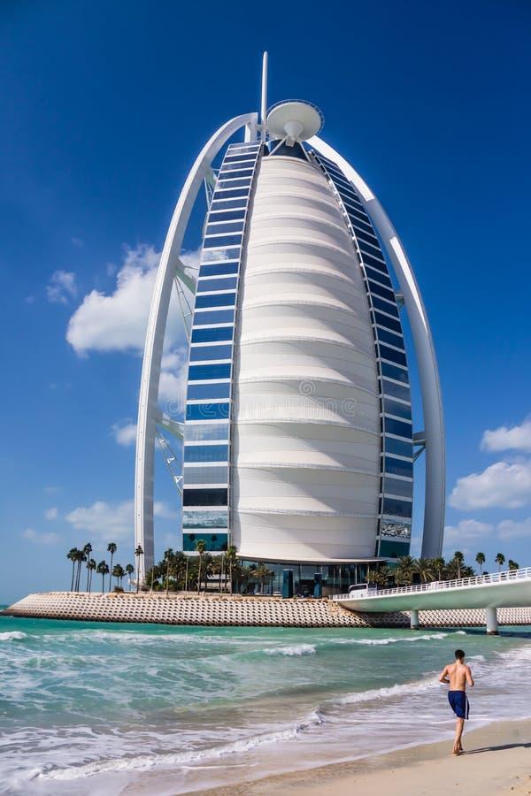Burj Al阿拉伯旅馆在迪拜 免版税库存照片