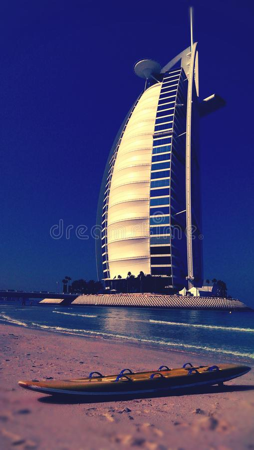 Burj Al阿拉伯旅馆,迪拜 库存图片