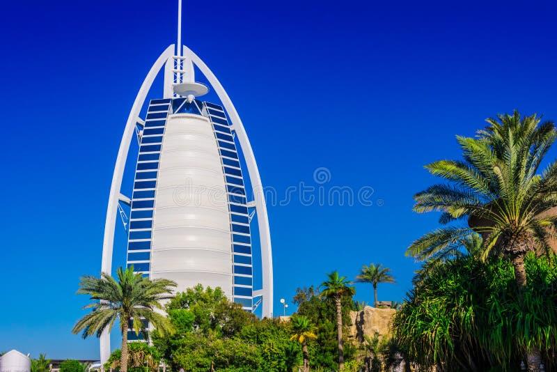 Burj Al Arab, een luxehotel in Doubai, de V.A.E royalty-vrije stock fotografie