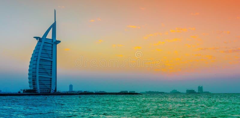 Burj Al Arab, een luxehotel in Doubai, de V.A.E royalty-vrije stock afbeelding