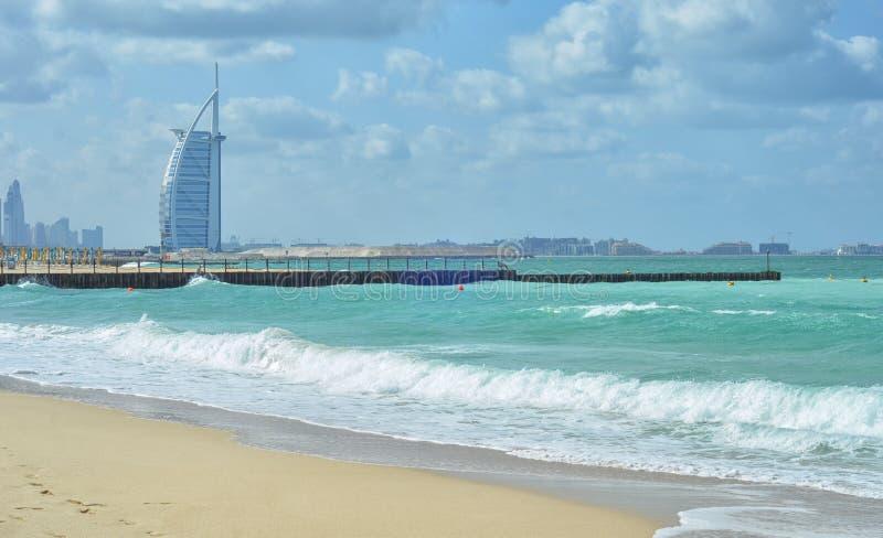 Burj Al Arab is het enige 7 sterhotel in de wereld stock afbeeldingen