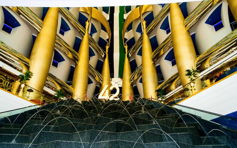 Burj Al Arab Hotel in Dubai, UAE. stock photo