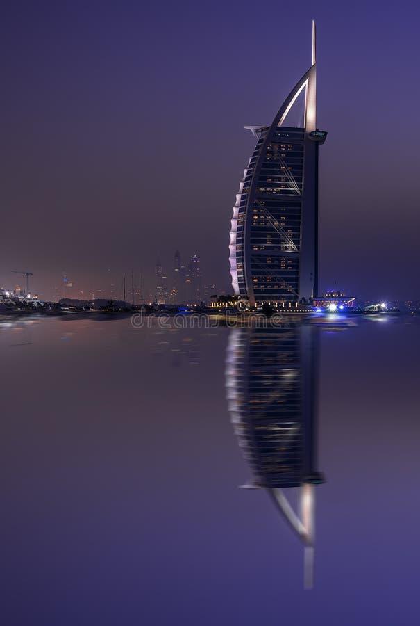 Burj Al Arab Reflection arkivfoton