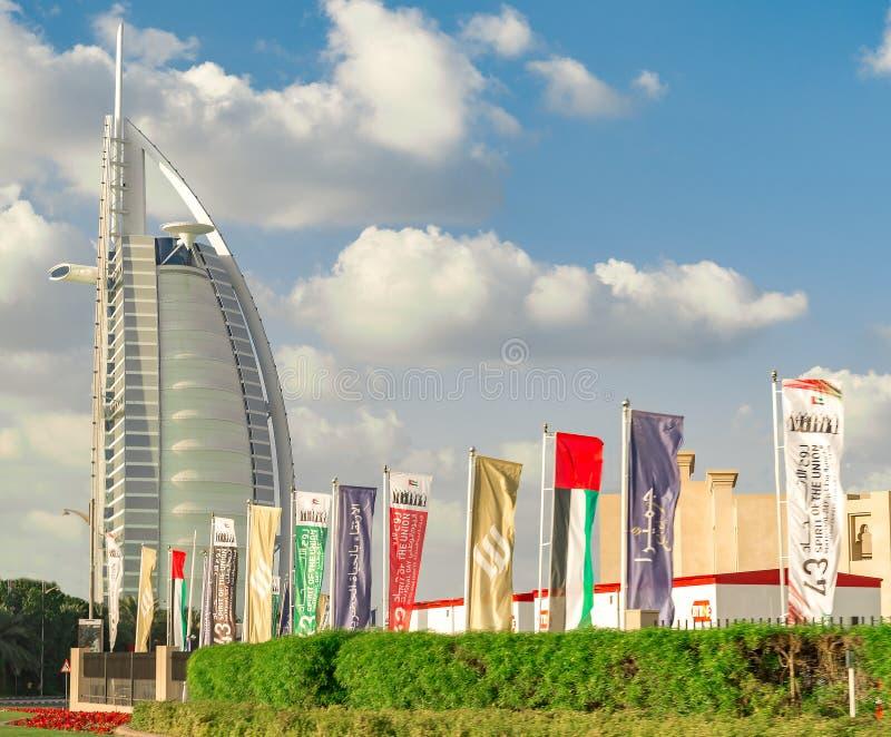 Burj Al Arab, un lujo 7 protagoniza el hotel - Dubai fotografía de archivo libre de regalías