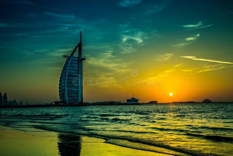 Burj Al-Araber ist ein Sternhotel des Luxus 5 lizenzfreies stockbild