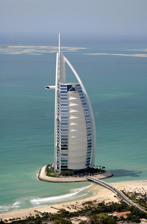 Burj Al-Araber u. die Welt lizenzfreie stockbilder