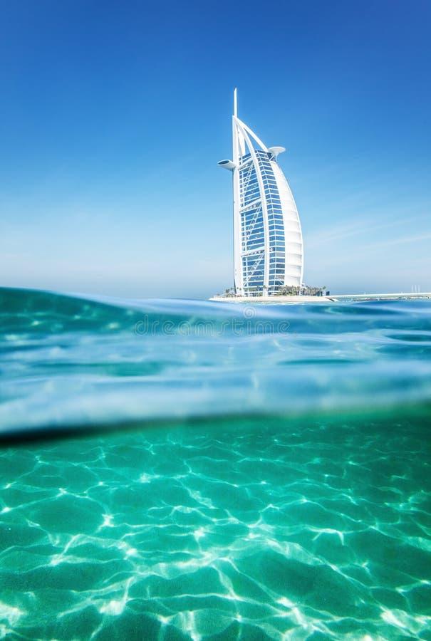 Burj Al arabisches Hotel, Dubai stockbilder