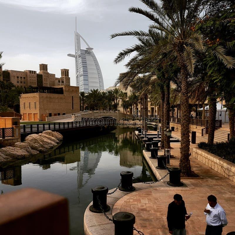 Burj alarab迪拜 图库摄影