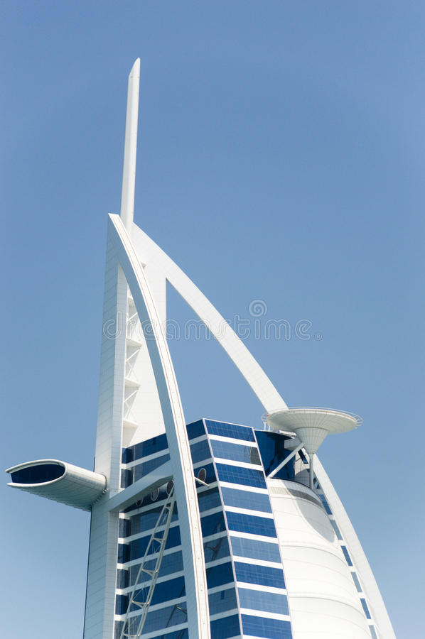 The Burj Arab Hotel in Dubai, Detail royalty free stock photo