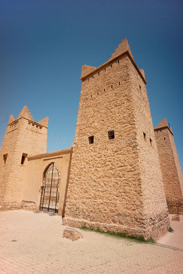 Burj Beni-Melall. High above the Mid Atlas city of Beni-Melall this 17th century fortress is is pristine condition. Morocco stock image