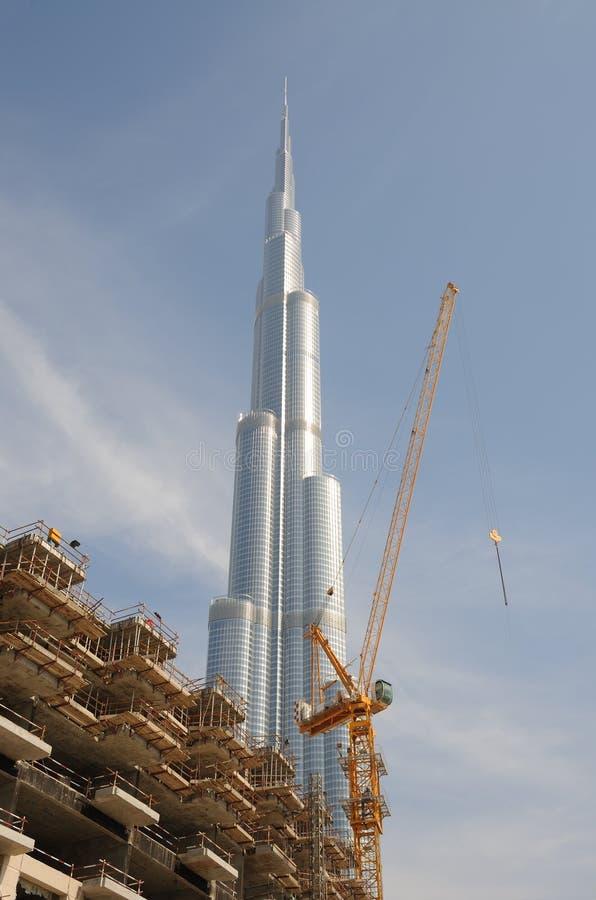 Burj Doubai (Burj Khalifa), Doubai royalty-vrije stock afbeelding