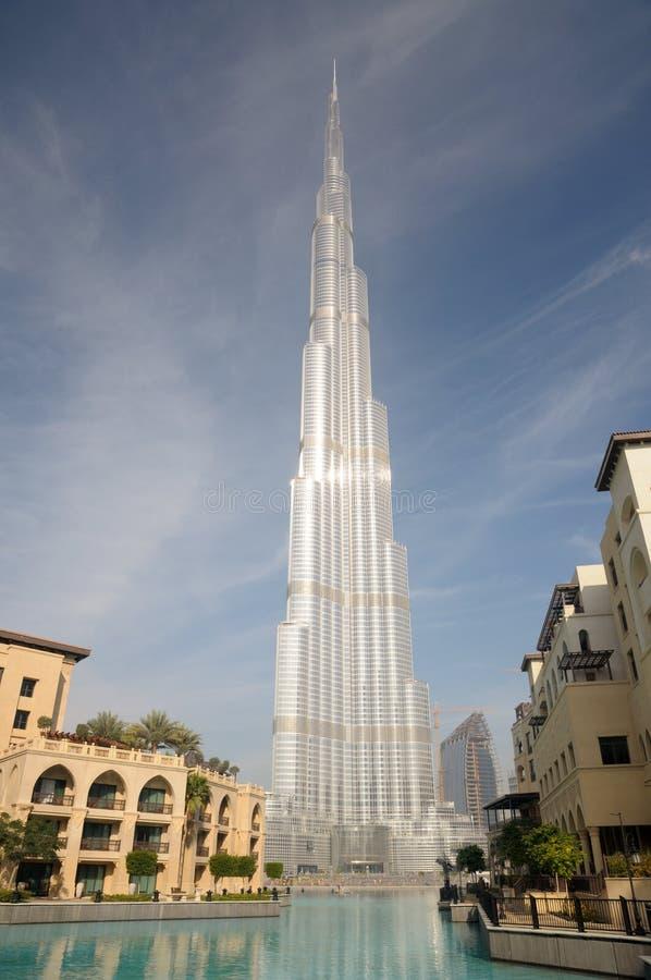 Burj Doubai - più alto grattacielo nel mondo fotografia stock libera da diritti