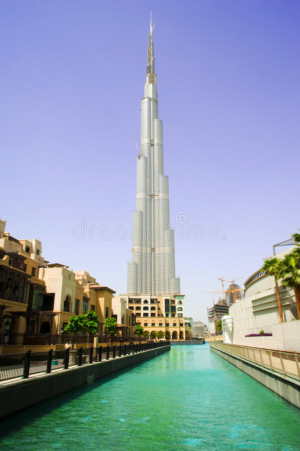 Burj Dubai innen im Stadtzentrum gelegen stockbilder