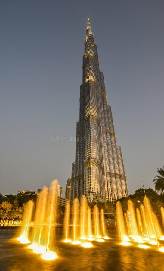 burj Dubai khalifa noc obraz royalty free