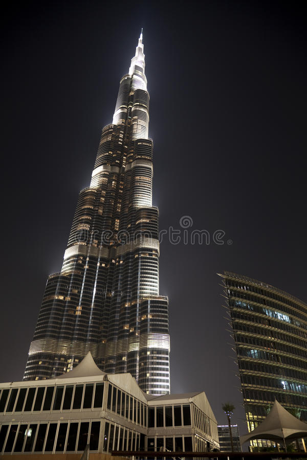 Download Burj Dubai At Night, Dubai, UAE Editorial Image - Image: 14582805