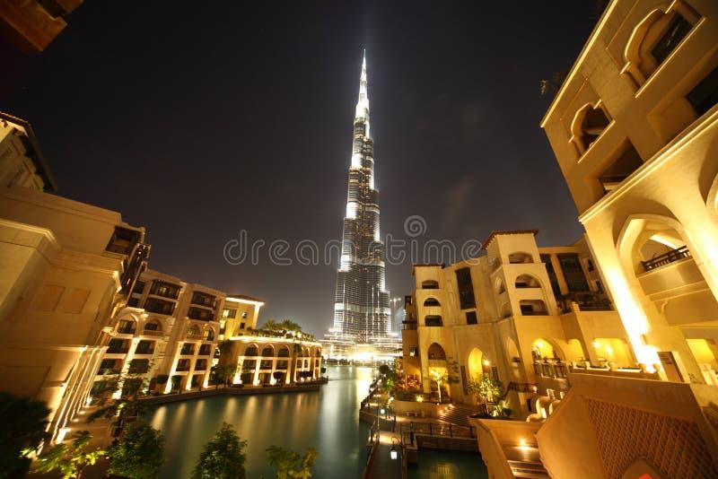 Burj Dubai skyscraper and buildings general view. Burj Dubai skyscraper and yellow buildings general view, Dubai, United Arab Emirates stock images