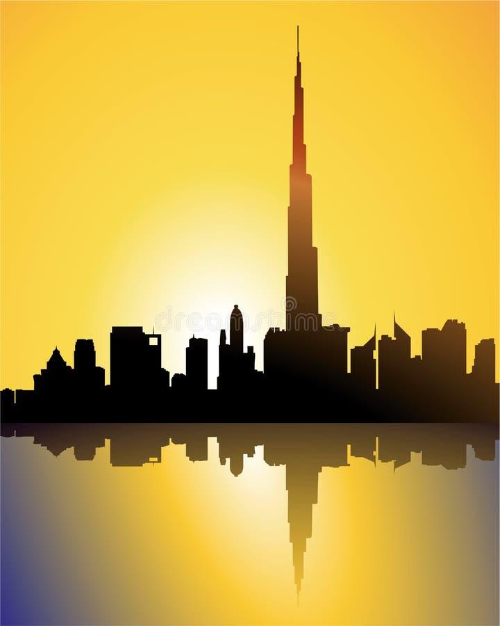 Download Burj dubai at sunset stock vector. Illustration of landmark - 10888005