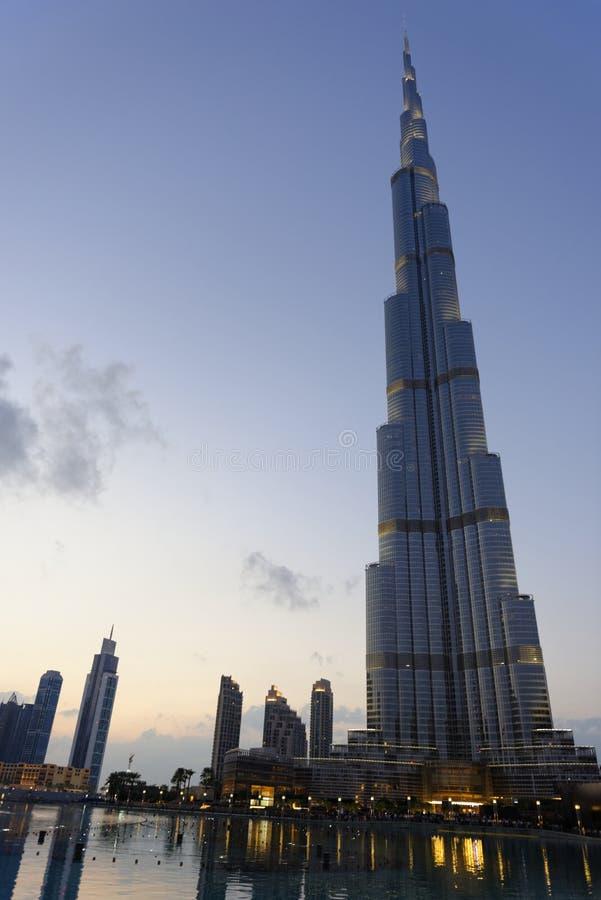Burj Dubai torn arkivbilder