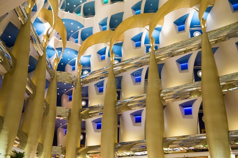 Burj interno Al Arab, Dubai fotos de stock royalty free