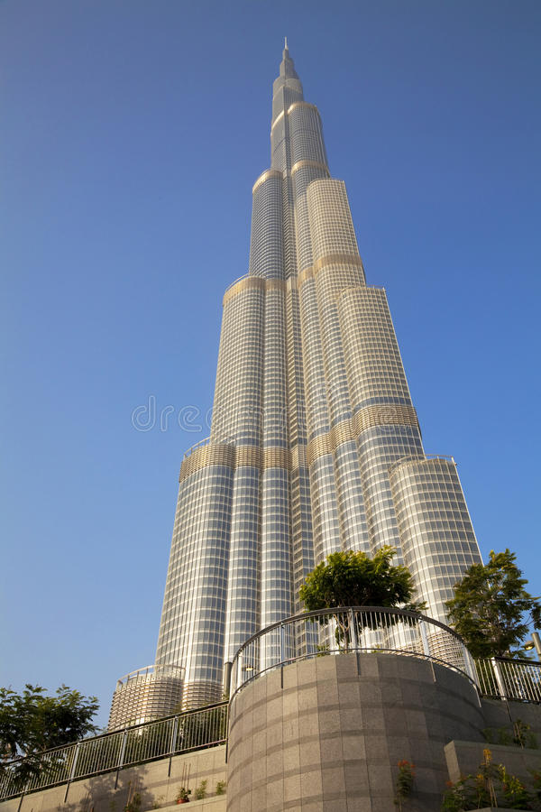 burj khalifa Ε.Α.Ε. του Ντουμπάι στοκ εικόνα με δικαίωμα ελεύθερης χρήσης
