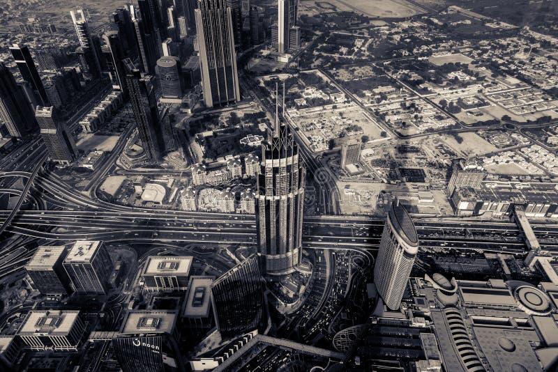 Burj Khalifa - взгляд от самолета стоковые изображения