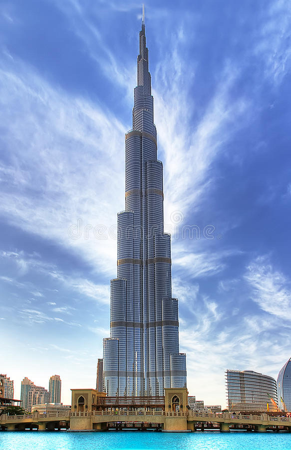 Burj-khalifa lizenzfreie stockfotos