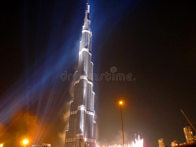 Burj Khalifa (Burj Dubai) Inauguration stock photo