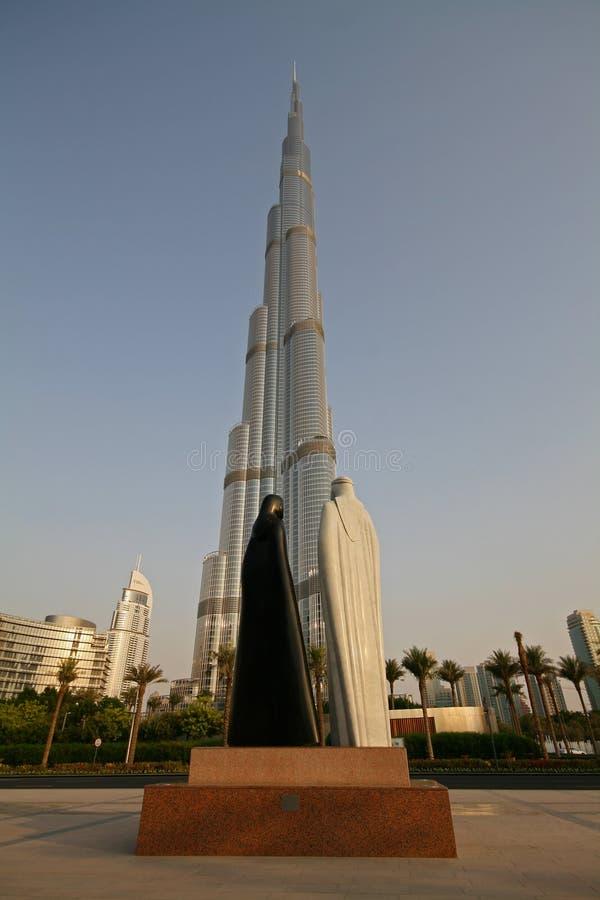 Burj Khalifa in Doubai, Emirati Arabi Uniti fotografie stock