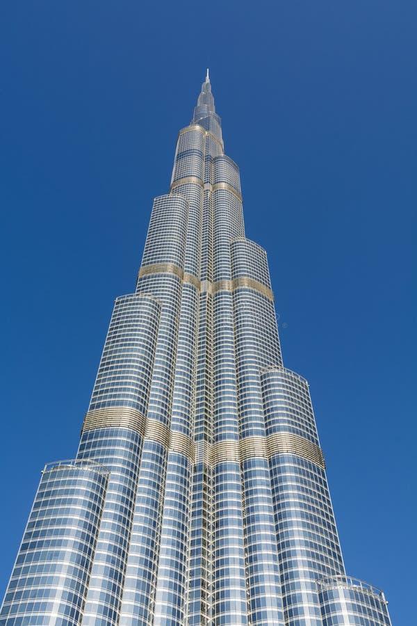 Burj Khalifa drapacz chmur Dubaj fotografia stock