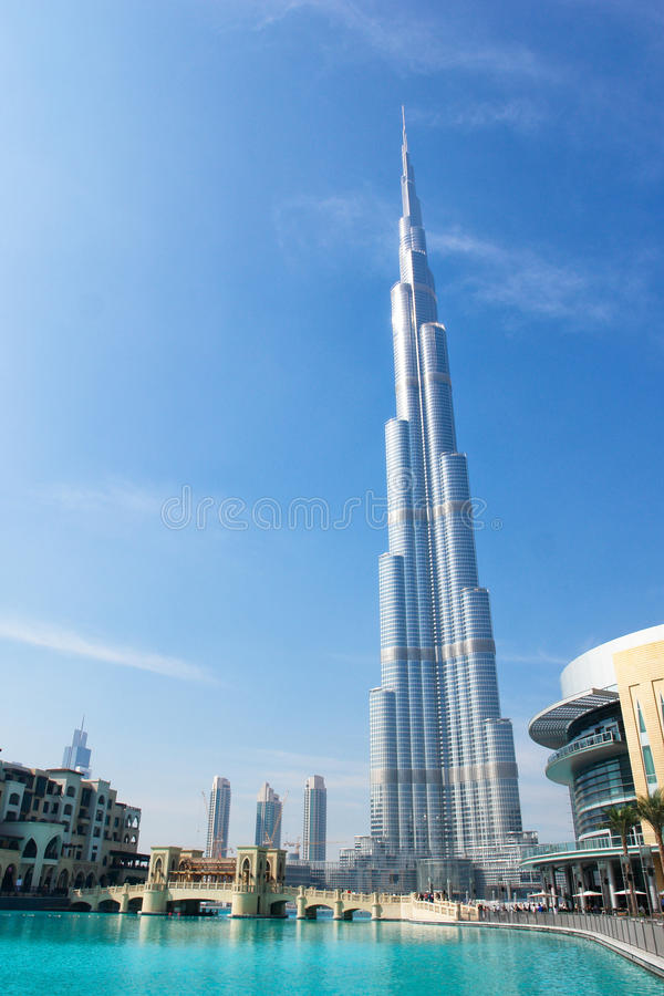 Burj Khalifa (Dubai) Tower - Dubai UAE Stock Photo - Image of dubai ...