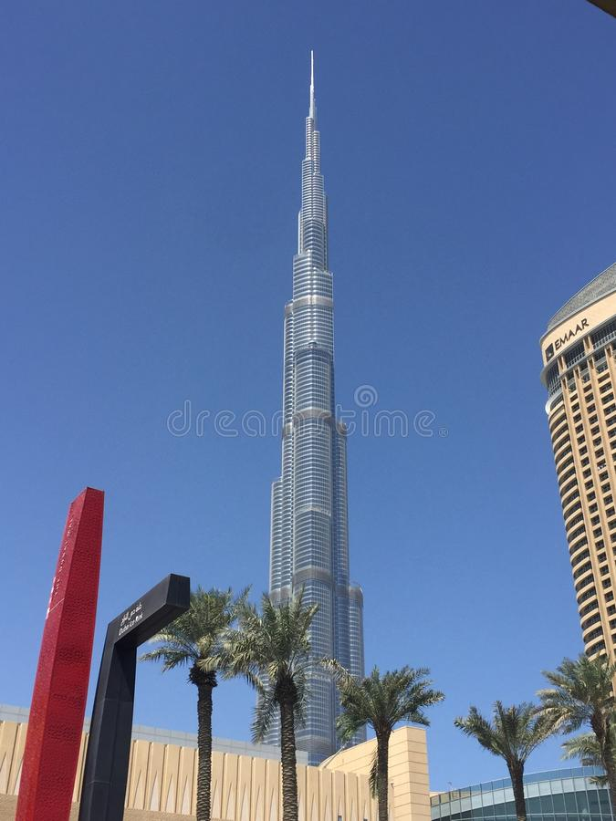 Burj khalifa Dubai stock photo