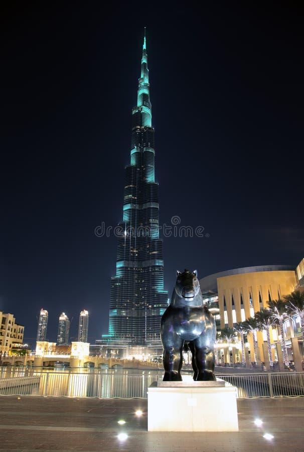 Burj Khalifa em Dubai fotos de stock