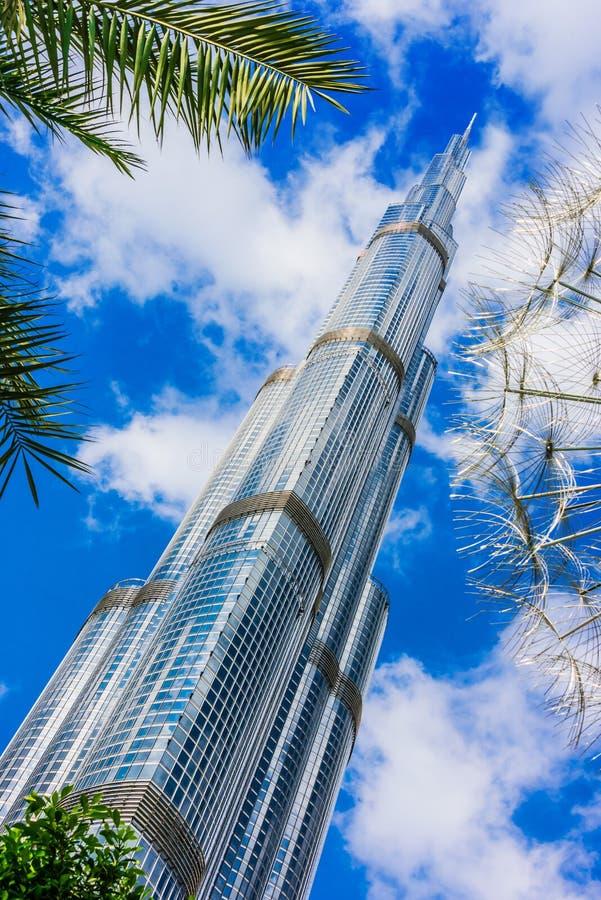 Burj Khalifa, het langste gebouw in de wereld, de V.A.E royalty-vrije stock fotografie