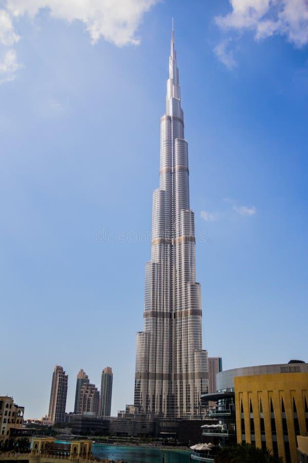 Burj Khalifa i Dubai arkivbild