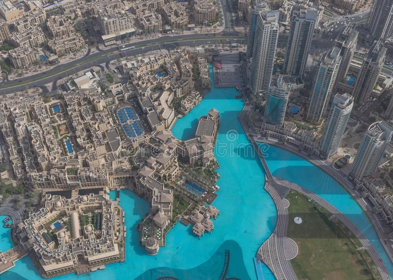 Burj Khalifa, la costruzione più alta nel mondo dubai fotografia stock libera da diritti