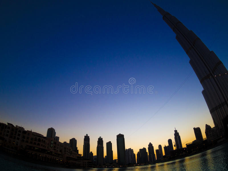 Burj Khalifa landscape royalty free stock images