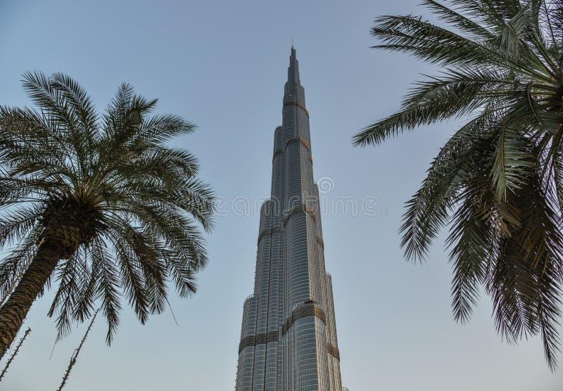 Burj Khalifa, mest högväxt torn för värld i Dubai fotografering för bildbyråer