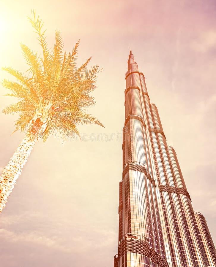 Burj Khalifa no por do sol foto de stock