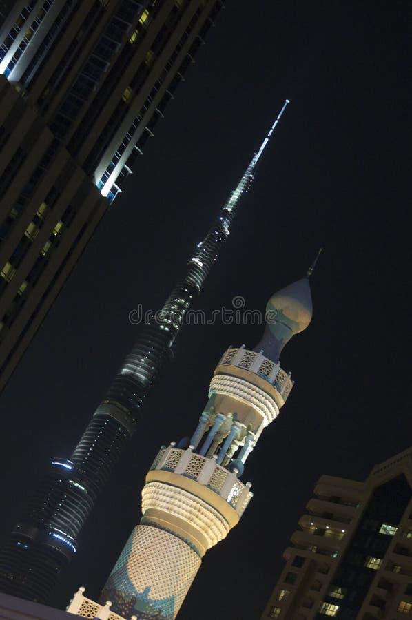 Burj Khalifa och minaret