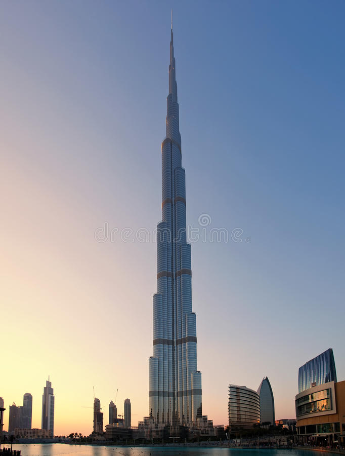 Burj Khalifa, the tallest building in the world. DUBAI - DECEMBER 24: Burj Khalifa is the tallest building in the world reaching over 800 meters, 24 december stock photography