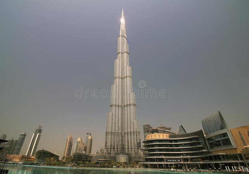 Burj Khalifa the tallest building in the world stock images
