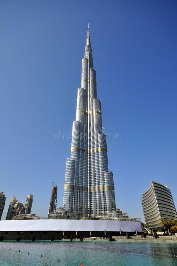 Burj Khalifa tower in Dubai royalty free stock photos