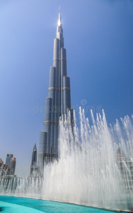 Burj khalifa. View of tallest building burj khalifa royalty free stock photo