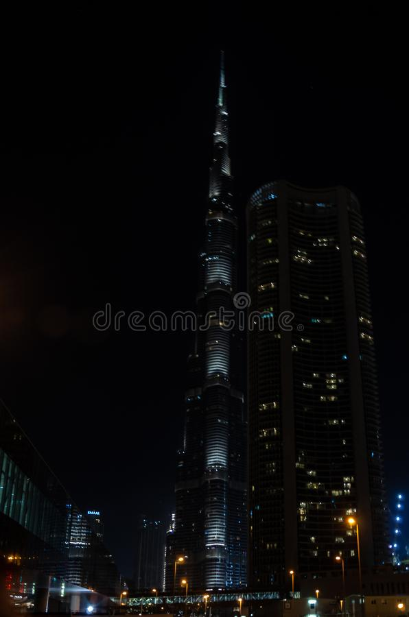 Burj Khalifa the world`s tallest man-made structure in Dubai UAE, February 2019. Burj Khalifa the world/s tallest man-made structure. United Arab Emirates stock image